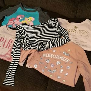 Girls 5/6 Long Sleeve Bundle Children's place h&m
